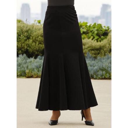 Color Closeout Fabulous Flounce Maxi Skirt by Studio EY