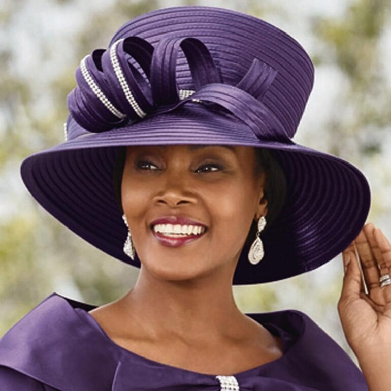 Color Closeout Lady Willene Church Hat by EY Signature
