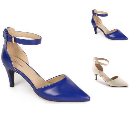 Color Closeout Ankle-Strap Pumps by EY Boutique