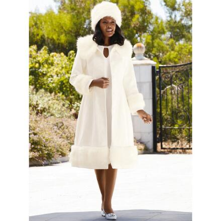 Color Closeout Everlasting Elegance Coat and Hat Set by LUXE
