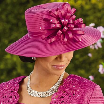 Color Closeout New Elegance Church Hat by EY Signature