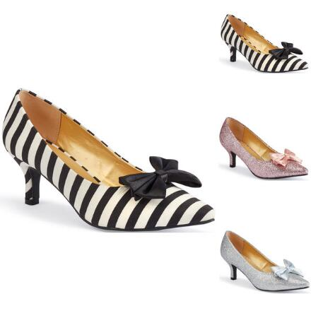 Color Closeout All About Bows Pump by EY Boutique