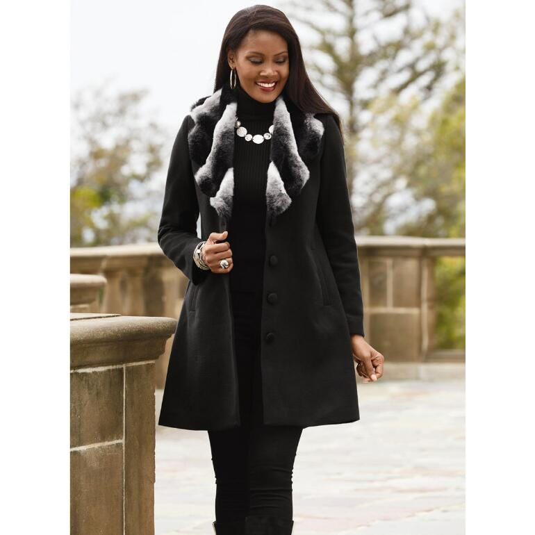 Color Closeout Collar Me Beautiful Coat by LUXE