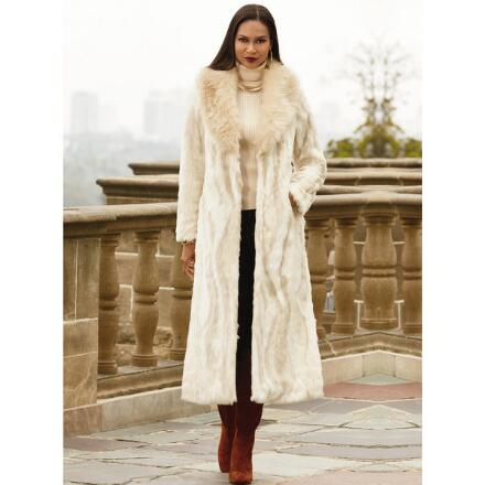 Color Closeout Fantasy Faux-Fur Coat by by LUXE