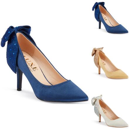 Color Closeout Lots of Luxe Satin Pump by LUXE