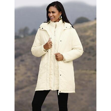 Color Closeout 3-in-1 3/4 Puffer Coat by Studio EY