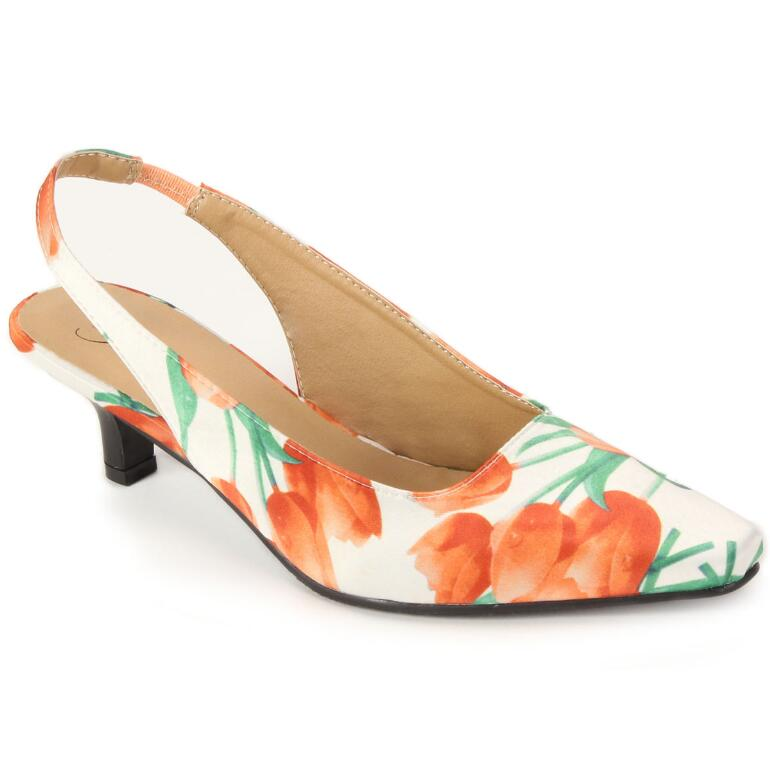 Color Closeout Garden Party Slingback by EY Boutique
