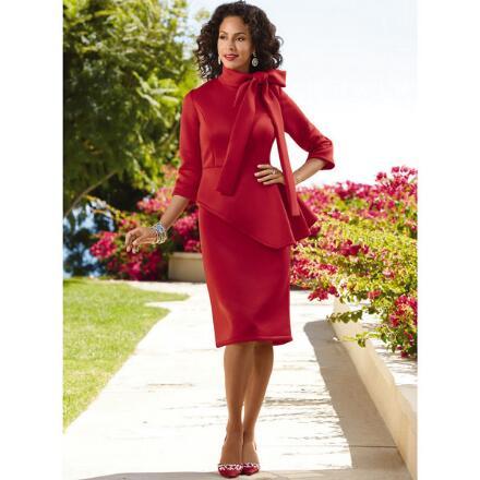 Color Closeout Take a Beau Rich Knit Dress by EY Boutique