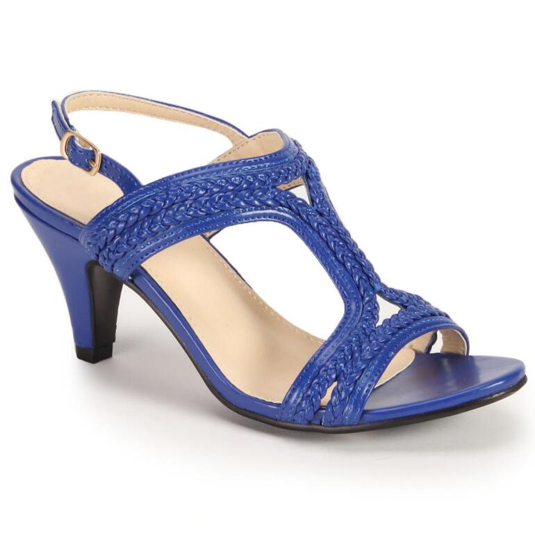 Color Closeout Bright 'n' Braided Slingback by EY Boutique