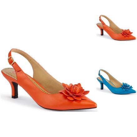 Color Closeout Glam-O-Rose Slingback by EY Boutique