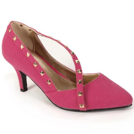 Color Closeout Studs 'n' Straps Pump by EY Boutique