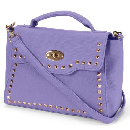 Color Closeout Studs 'n' Straps Satchel by EY Boutique
