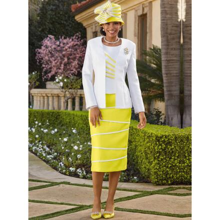 Color Closeout Between the Lines 3-Pc. Suit by EY Boutique