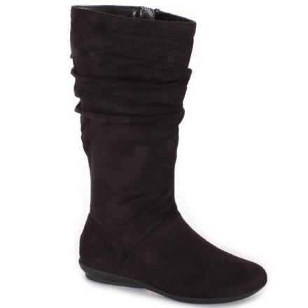 Color Closeout Faux-Suede Shades Boot by EY Boutique