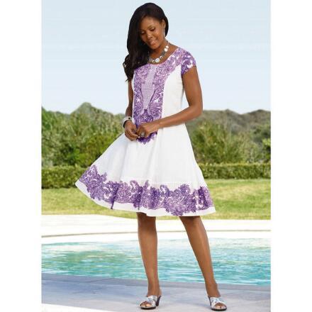 Border-Print Dress by Studio EY