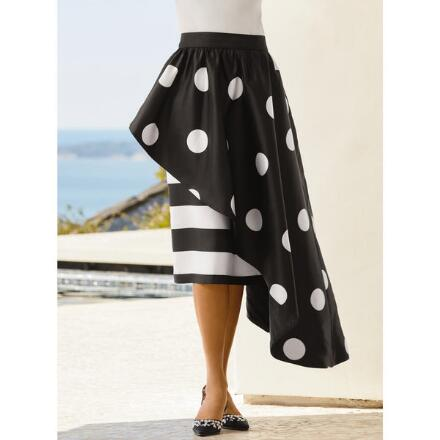Color Closeout Dots and Stripes Skirt by Studio EY