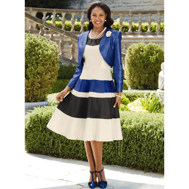 Color Closeout Country Club Dress and Jacket by EY Signature