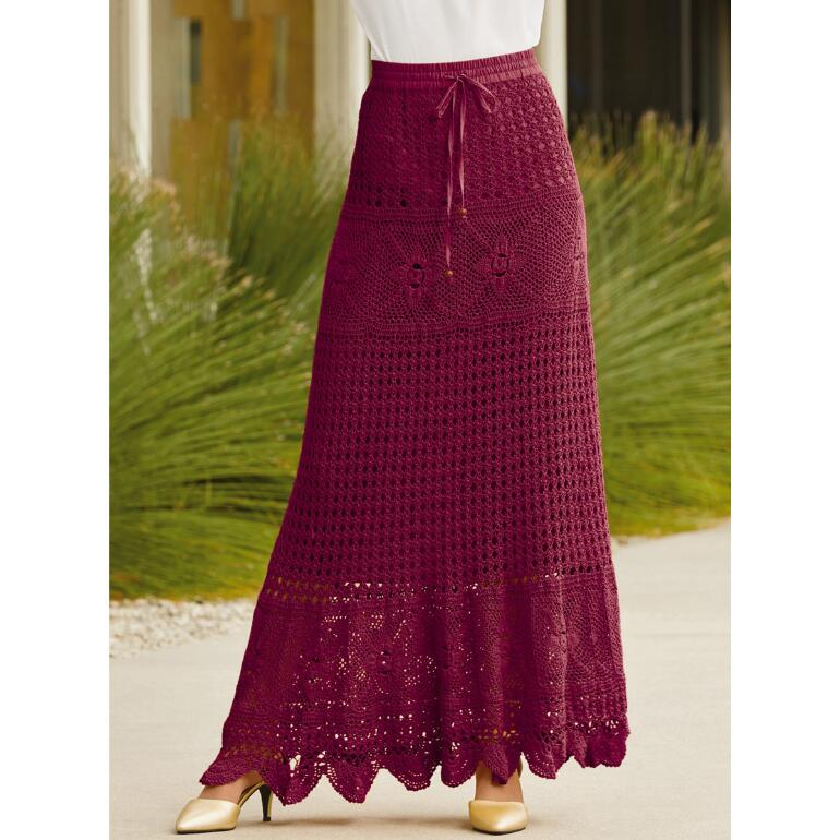 Color Closeout Crochet Maxi Skirt by Studio EY
