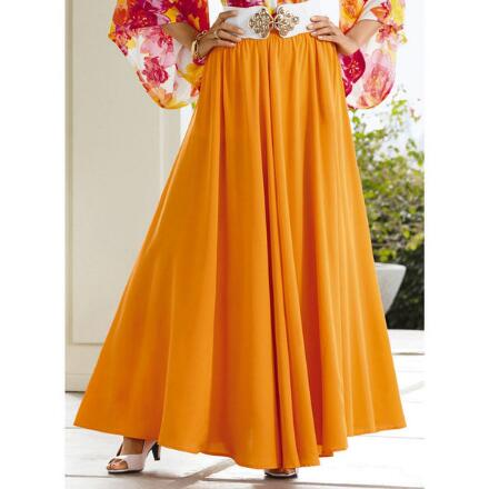 Color Closeout Essential Solid 5-Yard Maxi Skirt by Studio EY