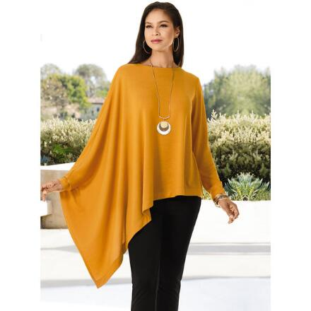Color Closeout Asymmetrical Sleeved Top by Studio EY