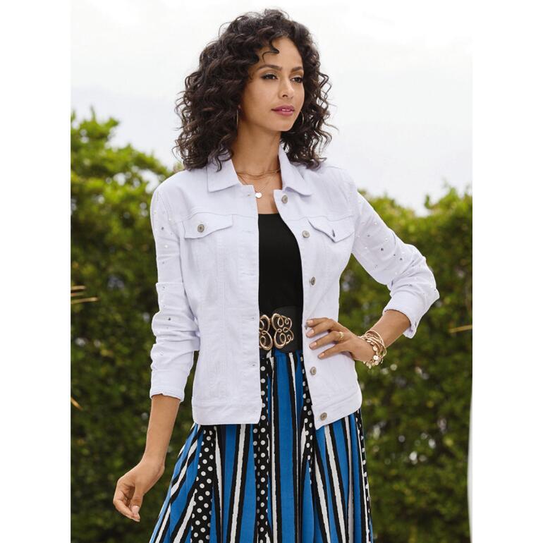 Pearls 'n' Sequins Jean Jacket by Studio EY