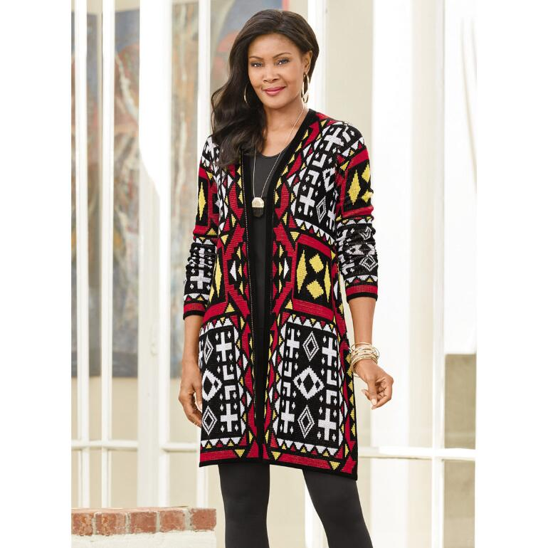 Totally Tribal Sweater Jacket by Studio EY