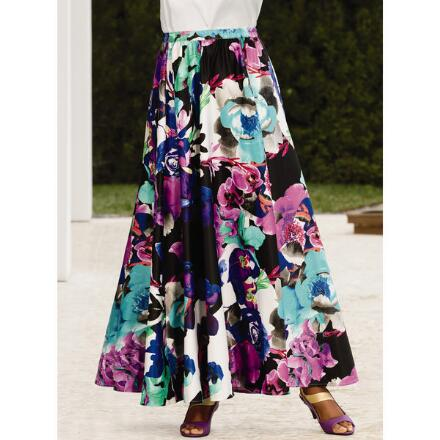 Fleurs with Flair Maxi Skirt by Studio EY
