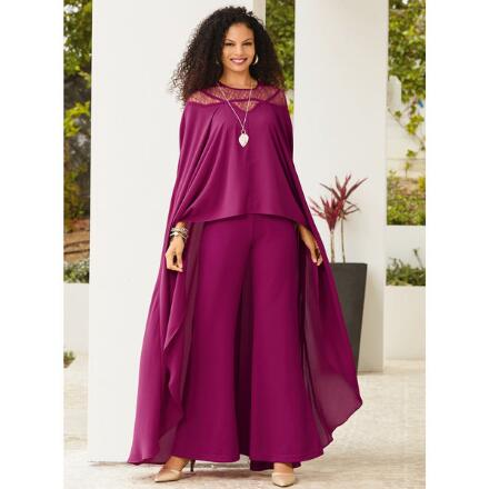 Overlay Cape Jumpsuit by Studio EY