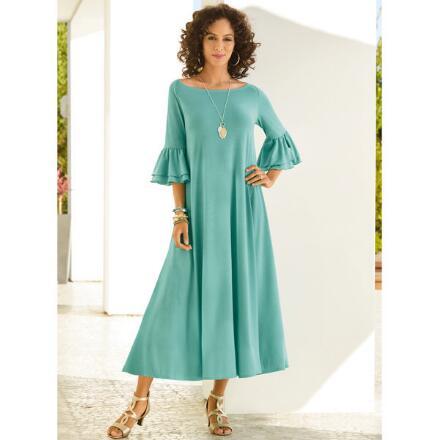 Ruffle-Sleeve Maxi Dress by Studio EY