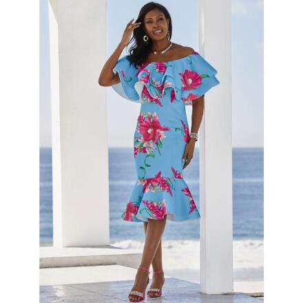 Tropica Flounce Dress by Studio EY