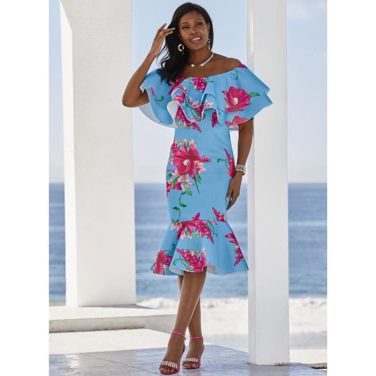 Tropica Flounce Dress by Studio EY