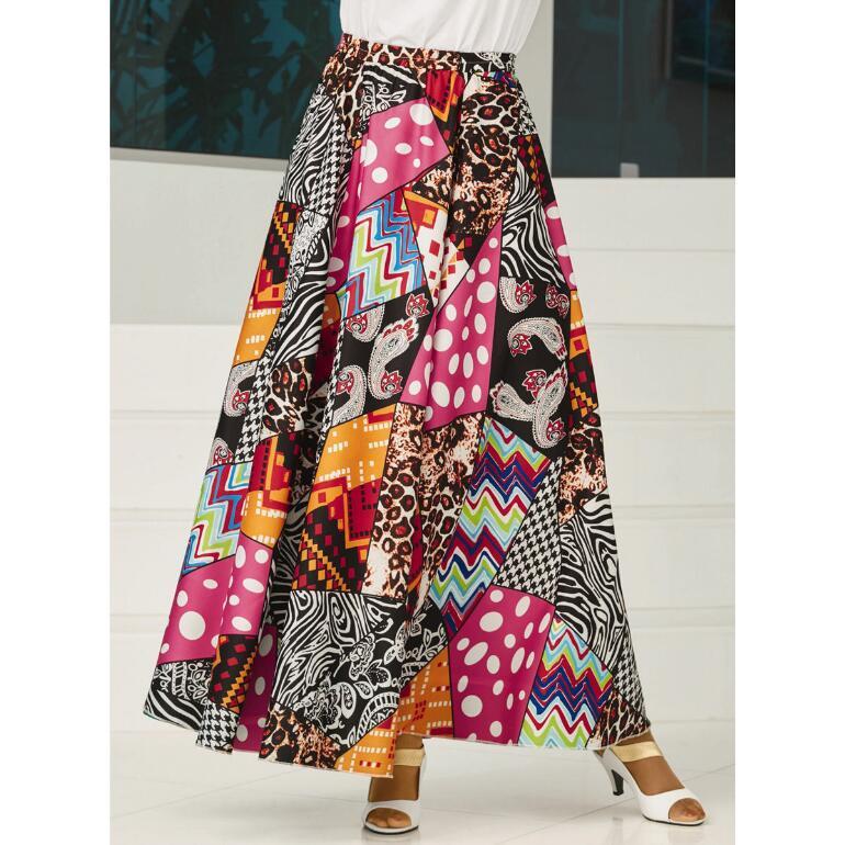 Kaleidoscope/Dot Reversible Skirt by Studio EY