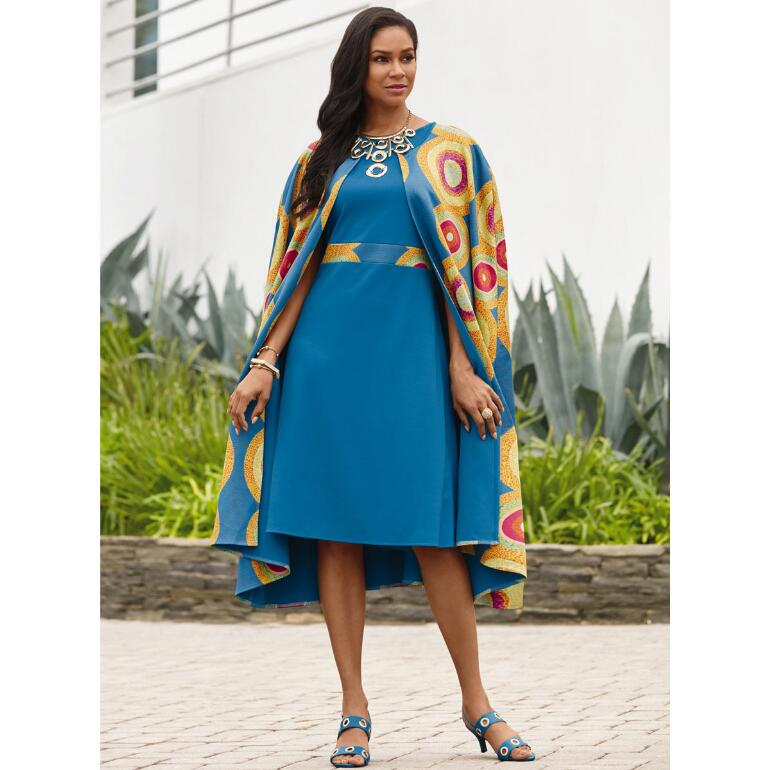 Ashanti Cape Dress by Studio EY