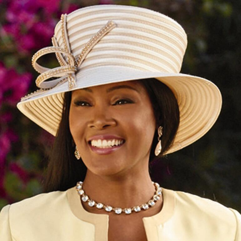 Touch of Laser Church Hat by EY Boutique