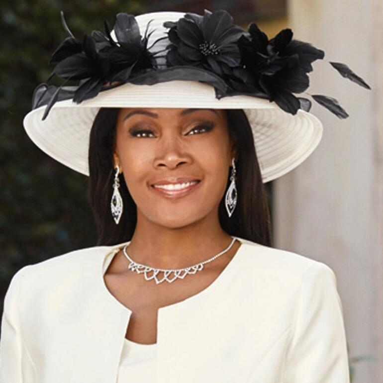 Portrait of Elegance Church Hat by EY Boutique