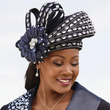 Sweep of Shine Church Hat by Lisa Rene Black Label
