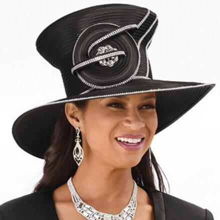 Forever Glam Church Hat by Lisa Rene Black Label