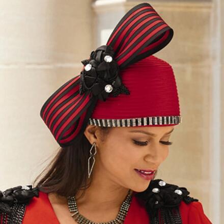 All the Trimmings Church Hat Lisa Rene Black Label