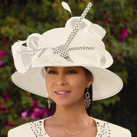Simply Studded Church Hat by Tally Taylor
