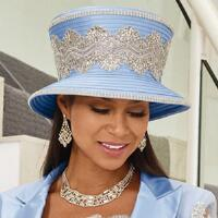 Radiance of Lace Church Hat by Luxe EY