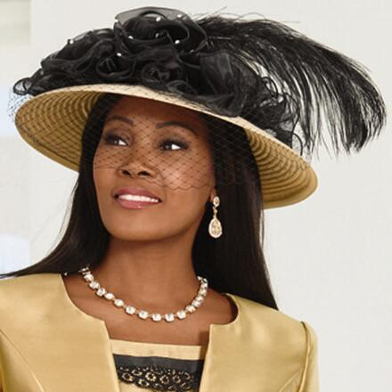 Touch of Luxury Church Hat by LUXE