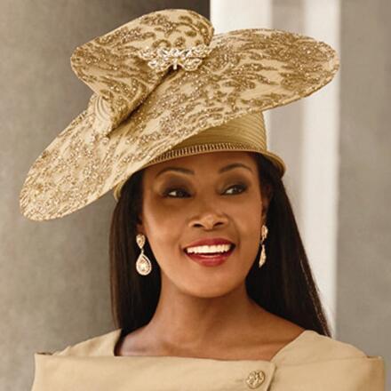 Precious Elegance Church Hat by Lisa Rene Black Label