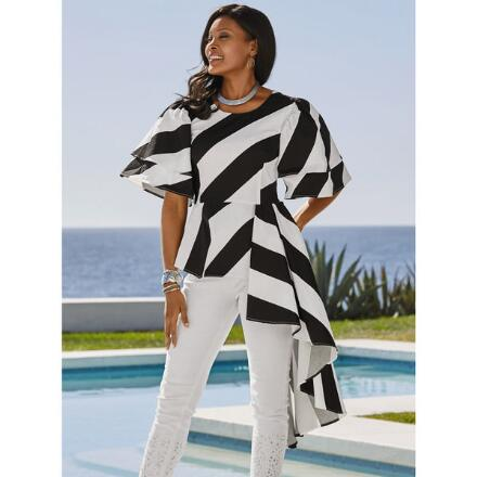 Cascading Stripe Top by Studio EY