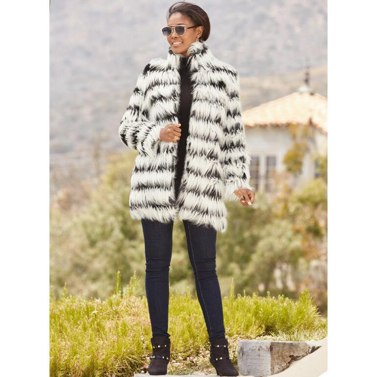 Showstopping Faux-Fur Jacket by LUXE
