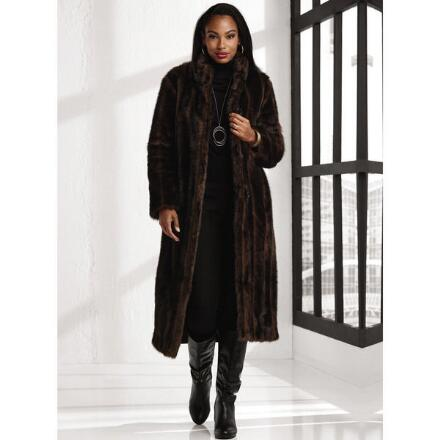 Reversible Faux-Mink Coat by LUXE