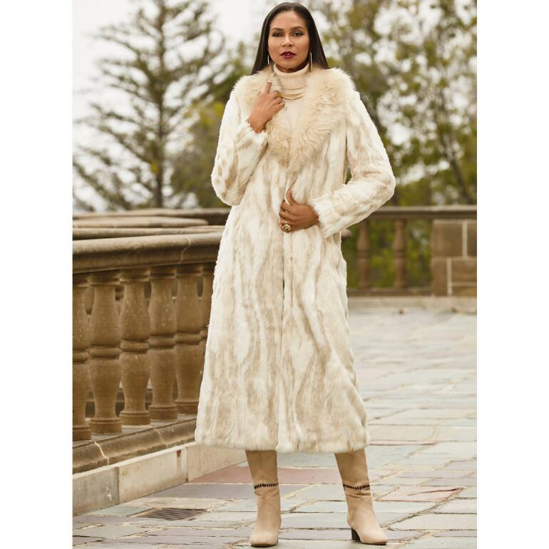 Fantasy Faux-Fur Coat by LUXE