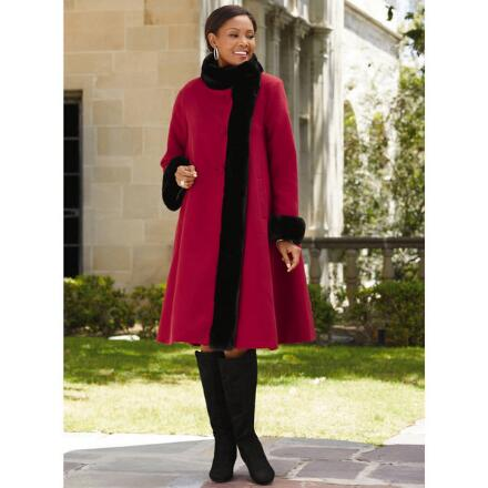 Elegance Swing Coat by LUXE