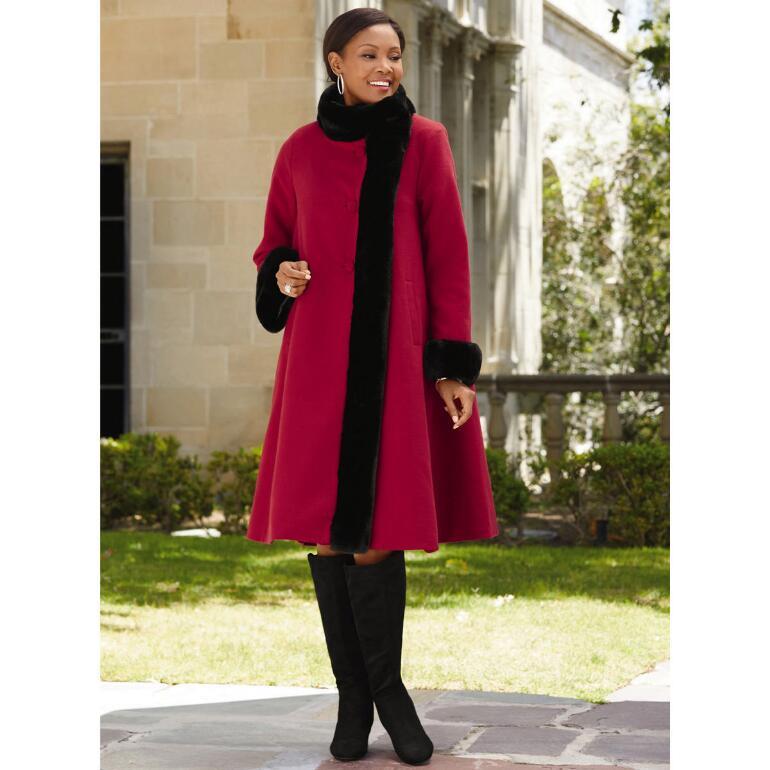 Elegance Swing Coat by LUXE