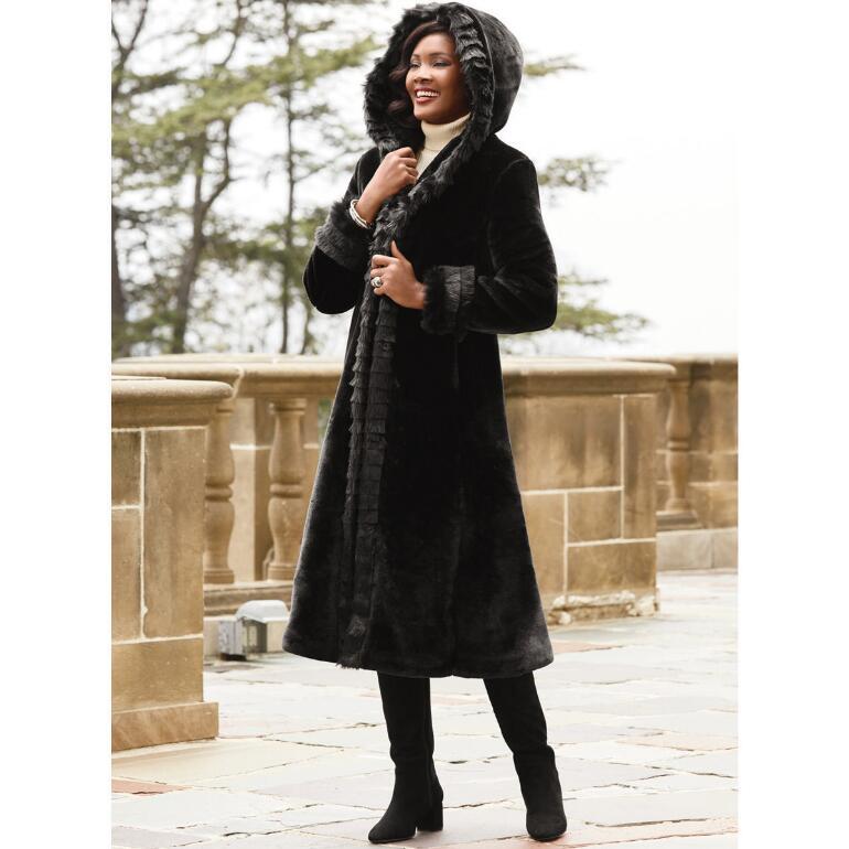 Long on Luxury Hooded Coat by LUXE