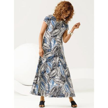 Patterns of Leaves Maxi Dress